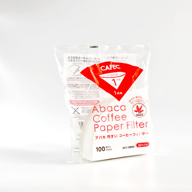 Cafec ABACA Filter Paper - size 1 - for Hario V60 (100 pc)