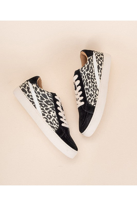 Black Leopard Tennis Shoes