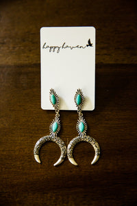 Turquoise Horse Shoe Earrings
