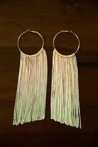 Long Fringe Ombre Earrings