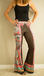 Velvet Print High Wasted Pants