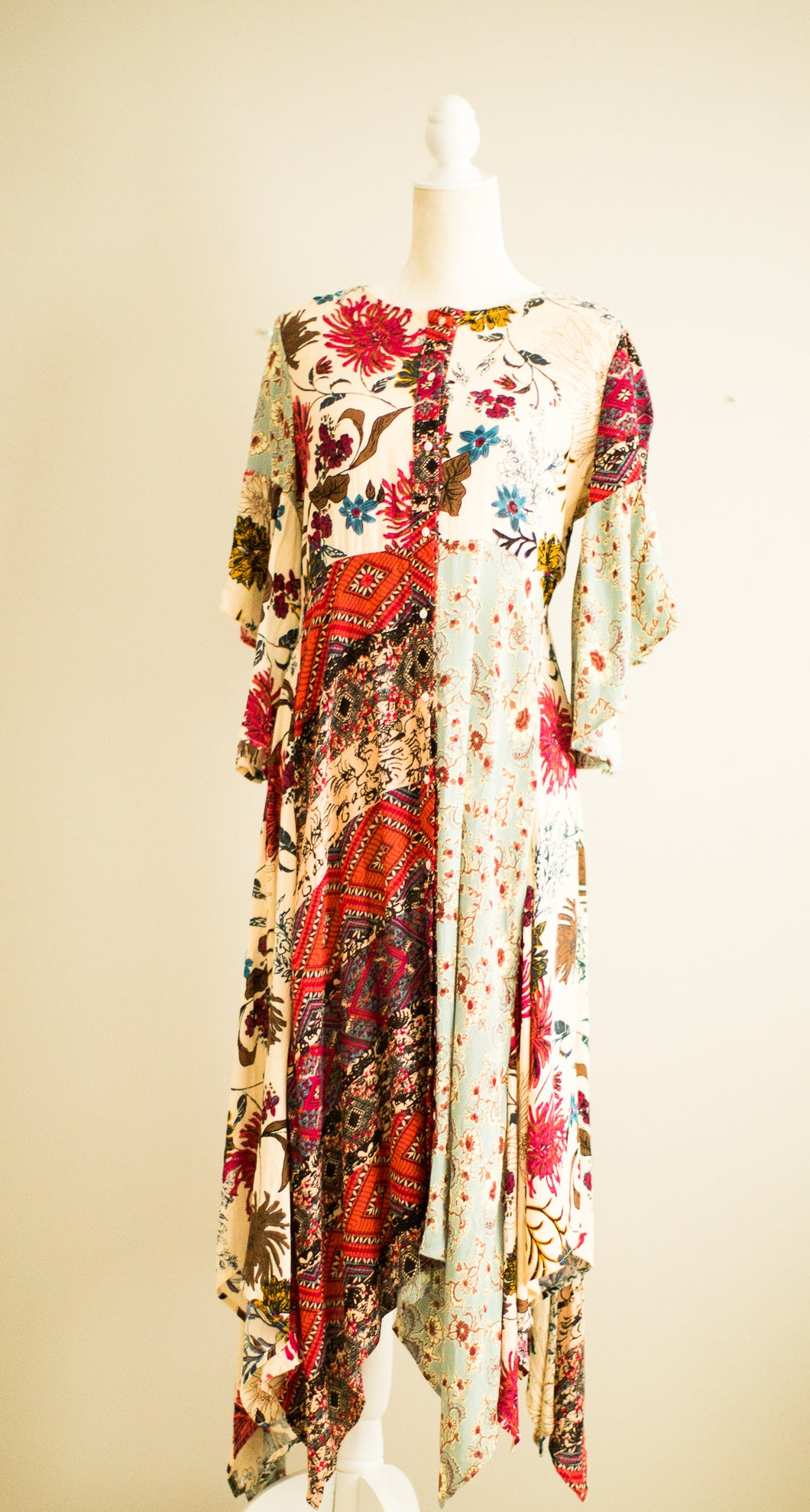 Multi-print Flower Dress