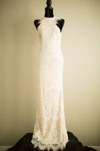White Lace Long Formal Dress
