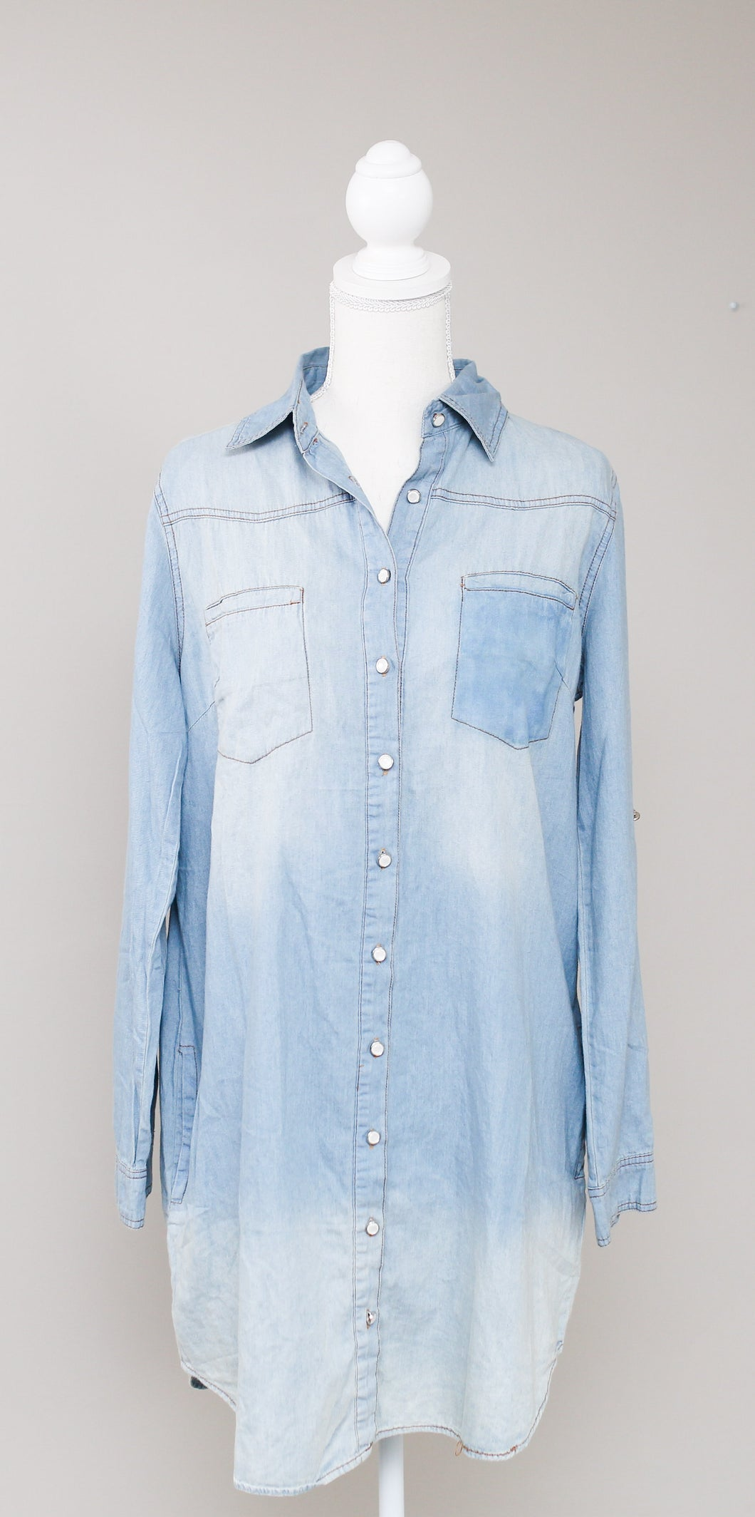 Denim Washed Out Dress