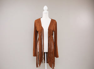 Fringe Tan Suede Jacket