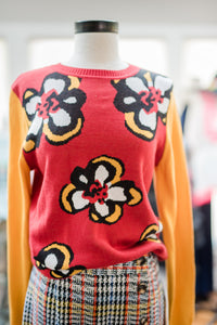 Retro Flower Sweater