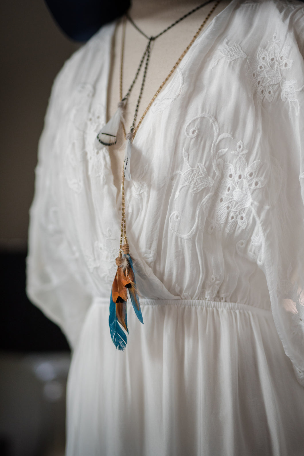 Colorful Feather Necklace