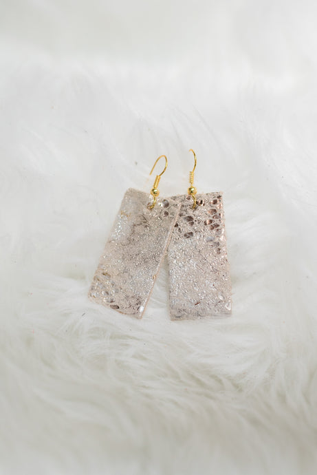 Gold Cowhide Earrings