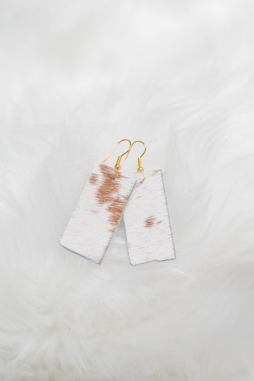 Light Cowhide Earrings