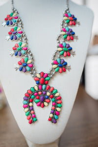Multicolored Horse Shoe Necklace