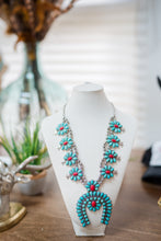 Load image into Gallery viewer, Turquoise and Red Accent Horse Shoe Necklace