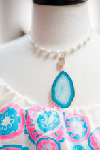 Load image into Gallery viewer, Blue Geode Necklace