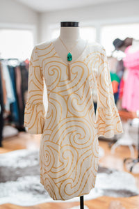 Julie Brown Gold Swirl Dress
