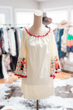Load image into Gallery viewer, Cream Dress with Embroidered Sleeves