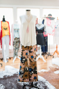 Flower Print Bell Bottoms