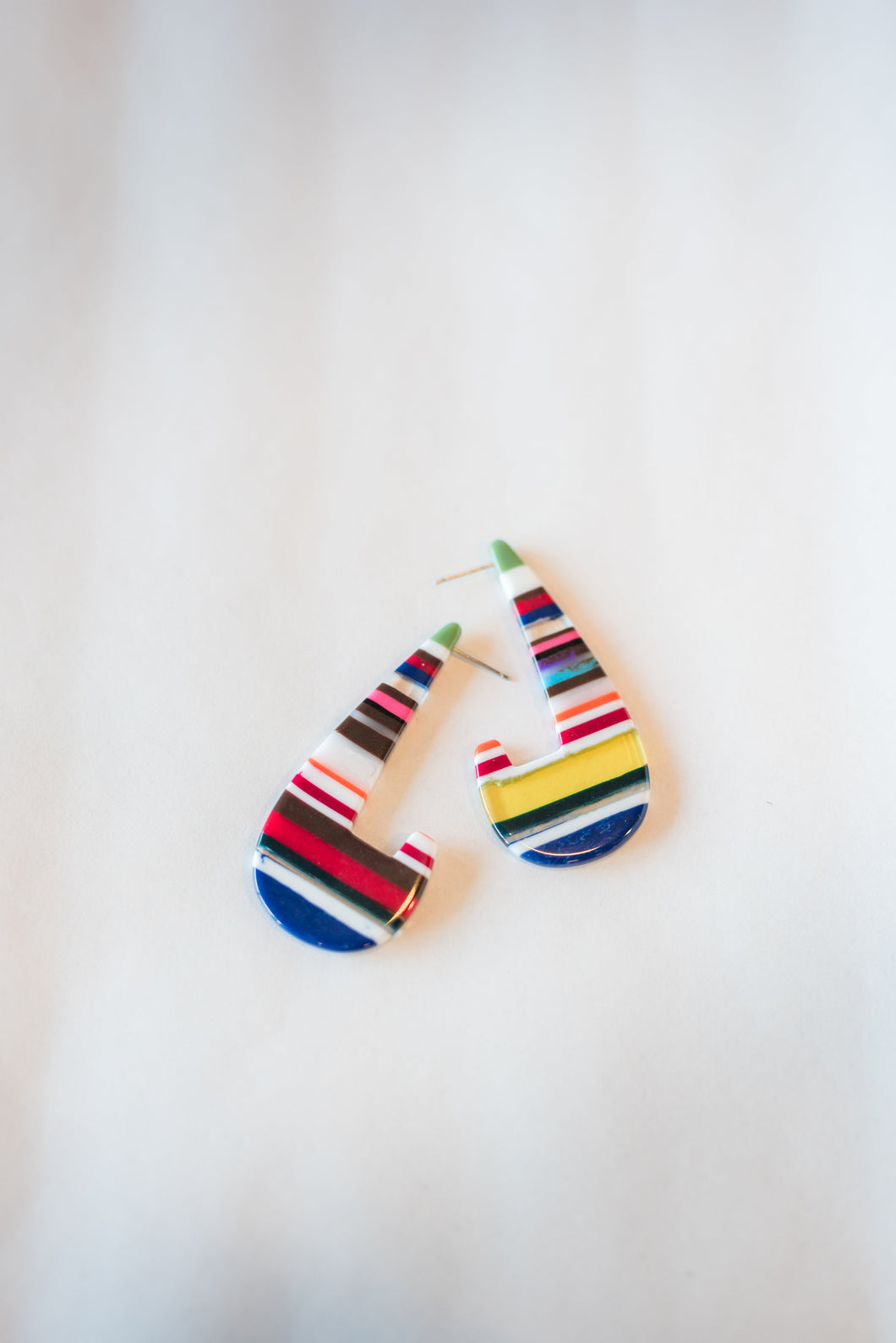 Colorful striped earrings