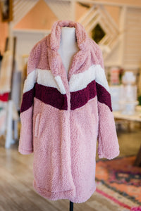 Pink & Red Sherpa Jacket