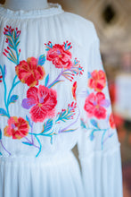 Load image into Gallery viewer, White and Colorful Floral Dress