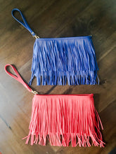 Load image into Gallery viewer, Red Fringe Clutch