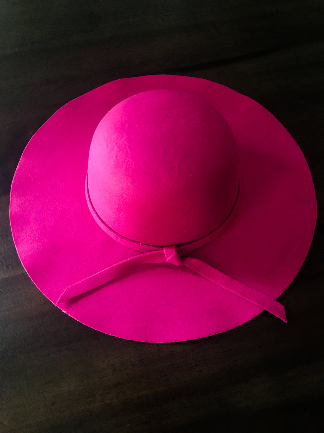 Pink Hat with Tie