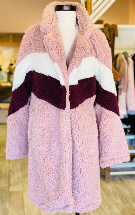 Pink Ombre Fuzzy Jacket