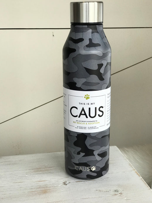 Black Camo Caus Water Bottle