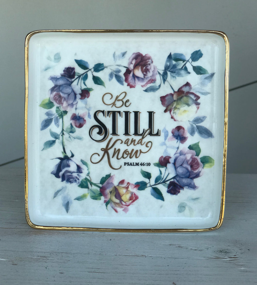 Be Still and Know Jewelry Plate