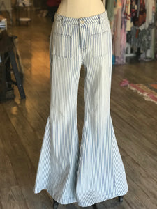Blue Stripe Bell Bottoms