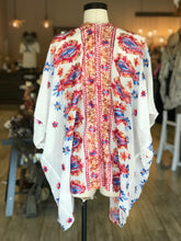 Load image into Gallery viewer, Pink Orange and Blue Embroidered Kimono