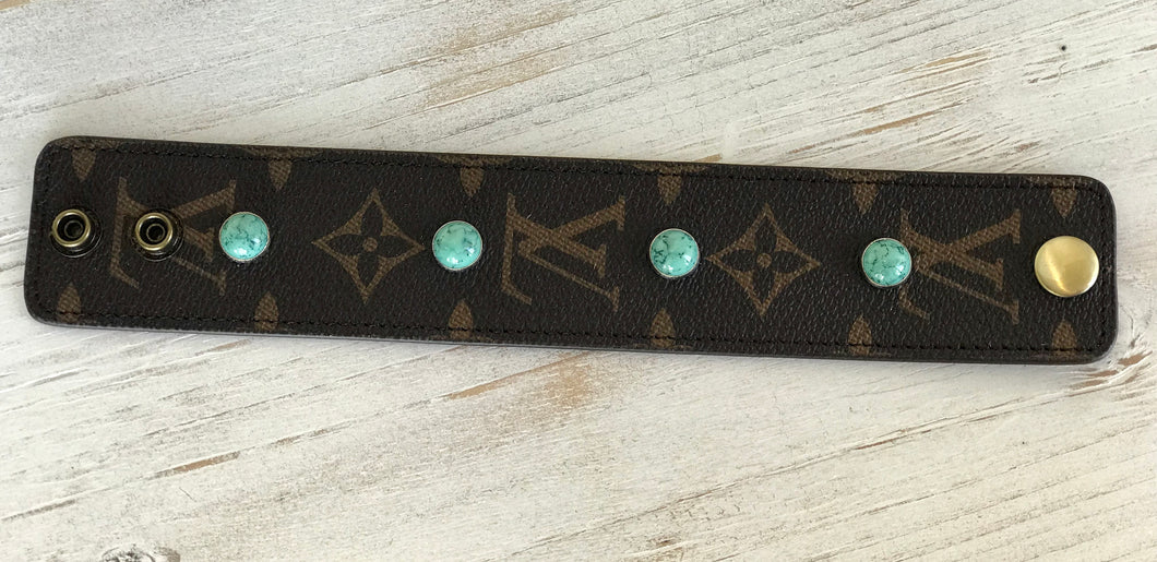 Louis Vuitton Leather Snap Bracelet