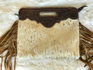 Fringe Cowhide Bags with Strap