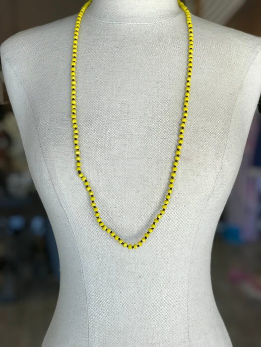 Yellow Big Beaded Necklace