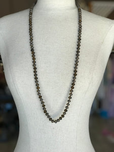 Brown Big Beaded Necklace