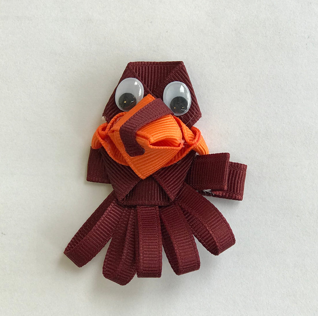 Hokie Bird Hair Clip