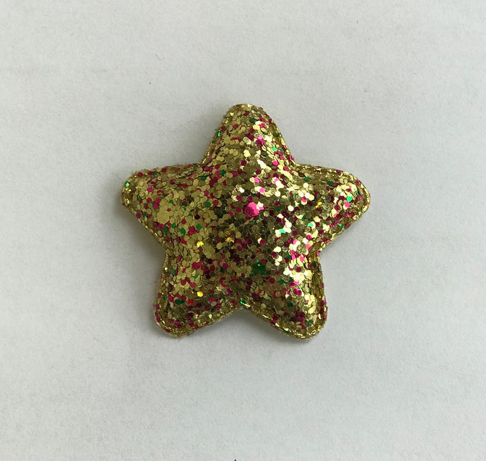 Gold Sparkle Star Hair Clip