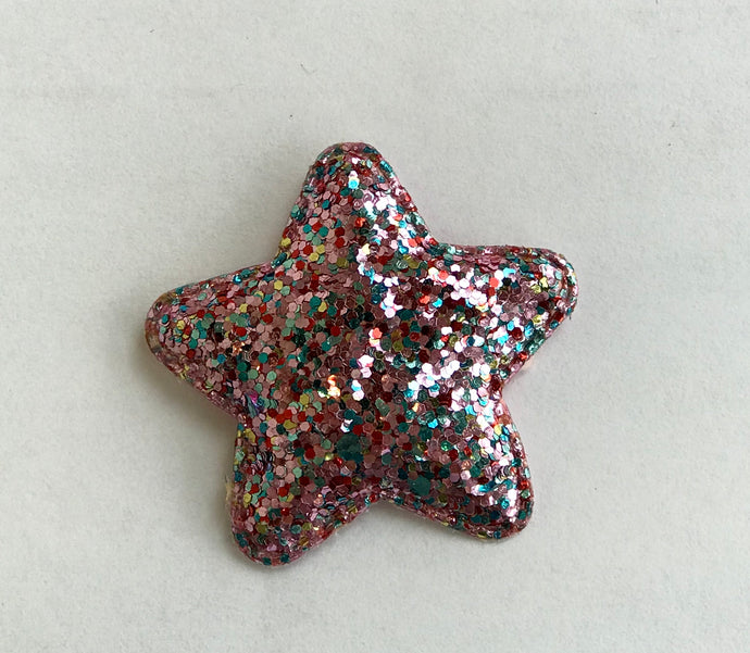 Light Pink Sparkle Star Hair Clip