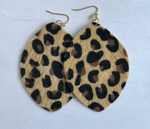Leopard Cowhide Earrings