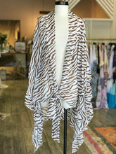 Load image into Gallery viewer, Brown Zebra Print Flow Kimono