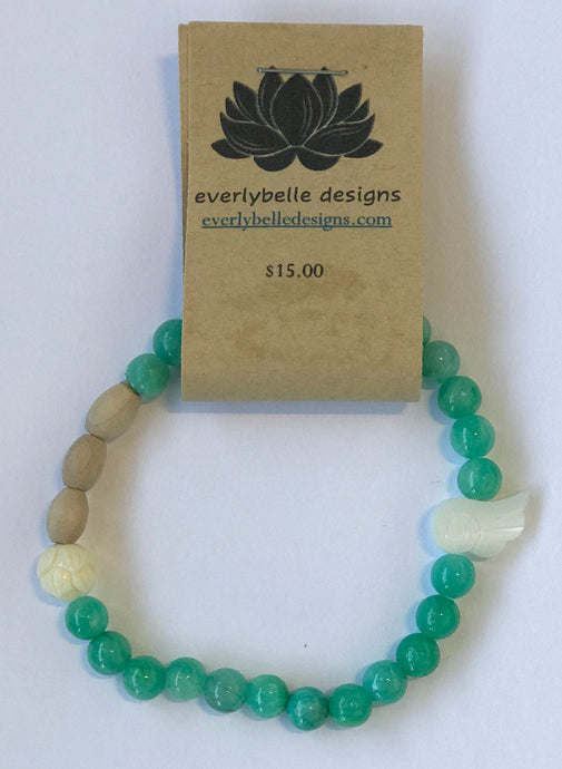 Green Essential Oil Bracelet