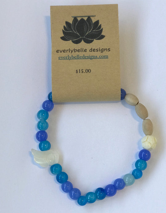 Blue Essential Oil Bracelet