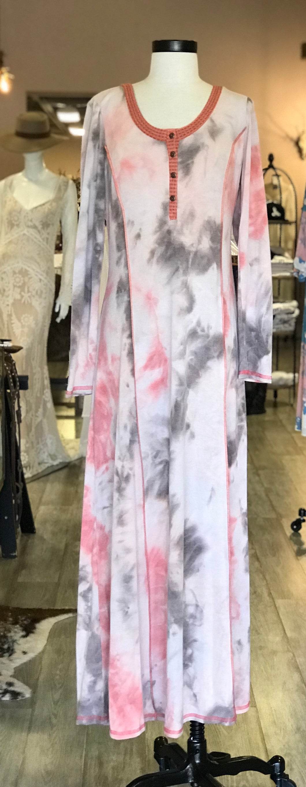 Long Cloth Tie Dye Dress