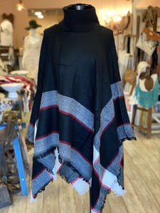 Black Turtleneck Poncho