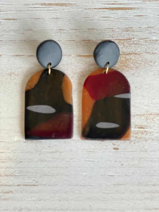 Multicolored Clay Earrings