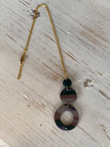 Circle Clay Necklace