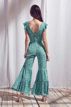 Load image into Gallery viewer, Green Flower Jumpsuit