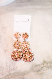 Rose Gold Cocktail Earrings