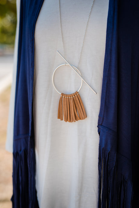 Long Fringe Necklace