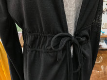 Load image into Gallery viewer, Black Gauzy Double Tie Cardigan