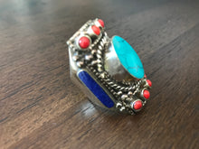 Load image into Gallery viewer, Turquoise Multi Stone Ring