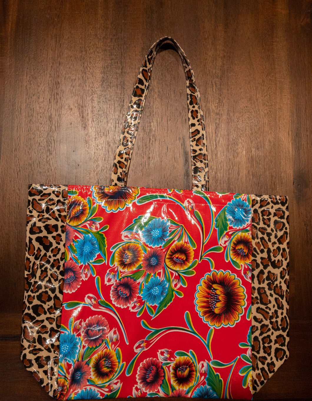 Flower and Cheetah Print Bag